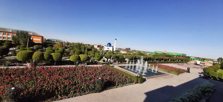 Самая большая цветочная клумба в Казахстане