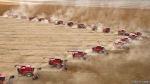 Казахстан заполняет свой амбар российским зерном