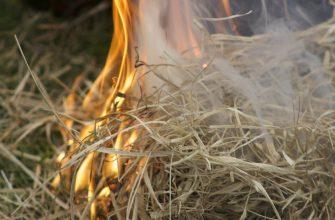 На Востоке горят хозпостройки и сено