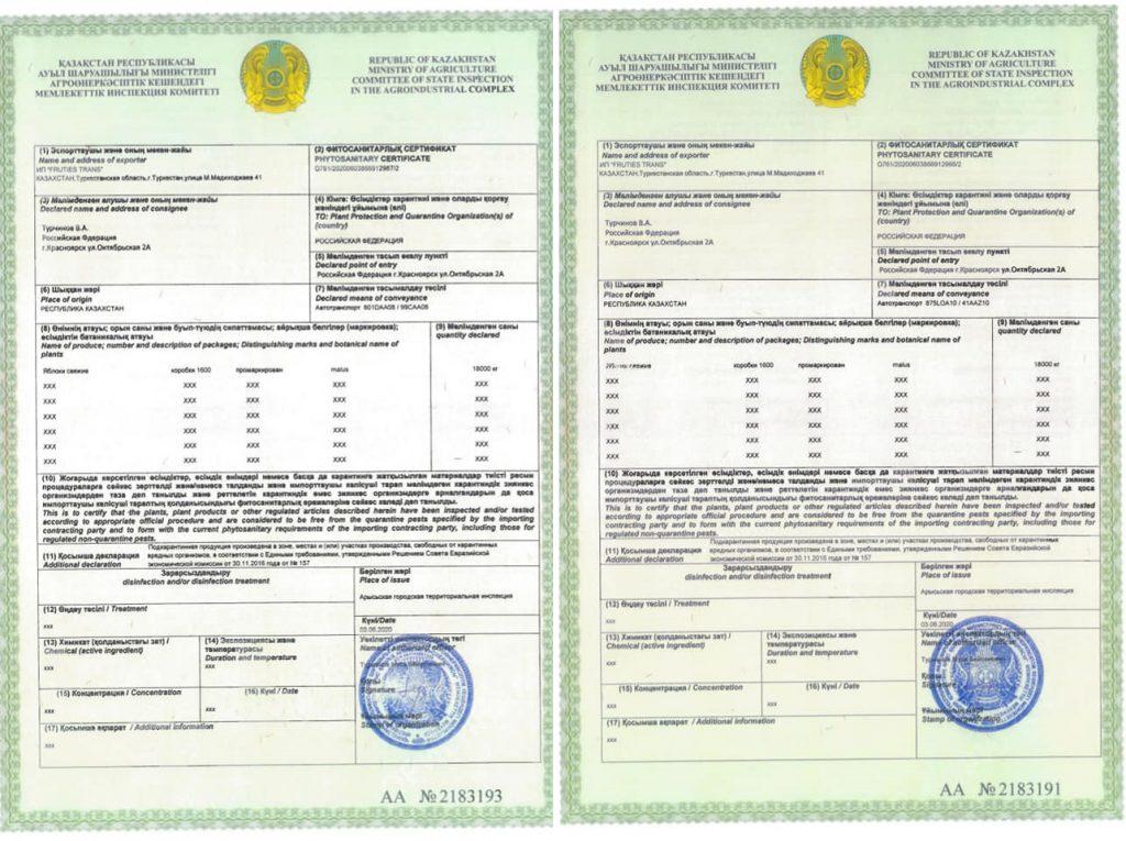 Международный скандал назревает на границе из-за фальшивых казахстанских фитосертификатов