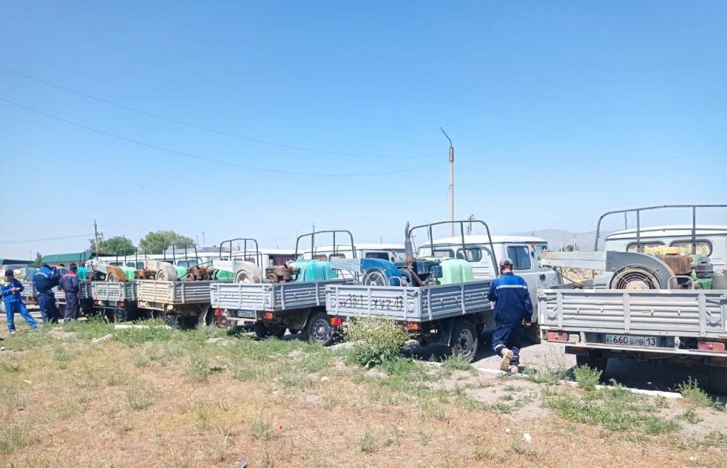 Продолжаются мероприятия по химобработке территорий против саранчовых вредителей