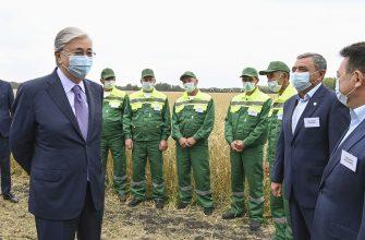 В Северо-Казахстанской области Касым-Жомарт Токаев ознакомился с ходом уборочной кампании